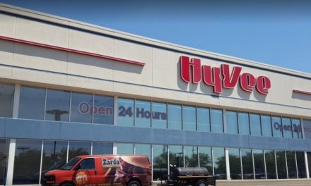 Hy-Vee Food Store in Shawnee fouls inspection; 14 violations, meat grinder had dry meat debris on food contact surface. Employee said meat grinder hadn't been cleaned